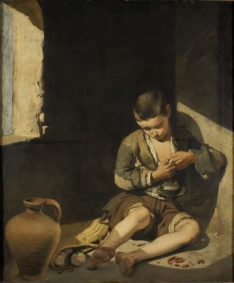 Bartolomé Murillo, Muchacho espulgándose o joven mendigo, 1645
